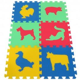 Pěnový koberec MAXI Zvířata III silný
