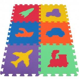 Pěnový koberec MAXI Dopravní prostředky, silný