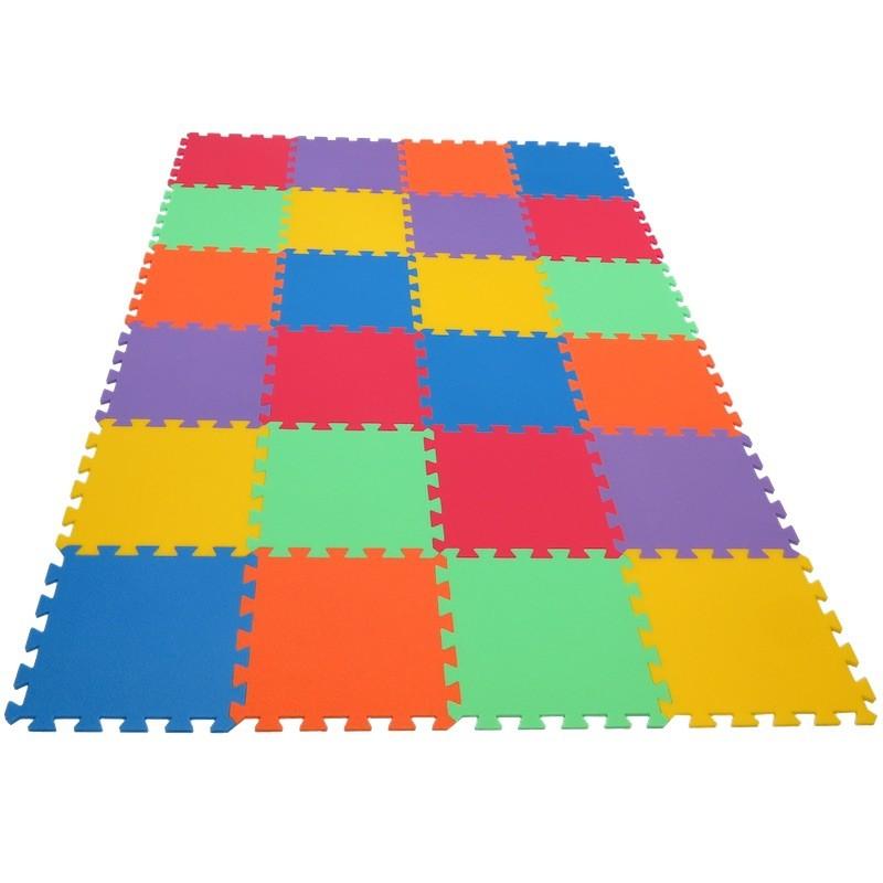 MALÝ GÉNIUS Pěnový koberec MAXI 24 - 6 barev