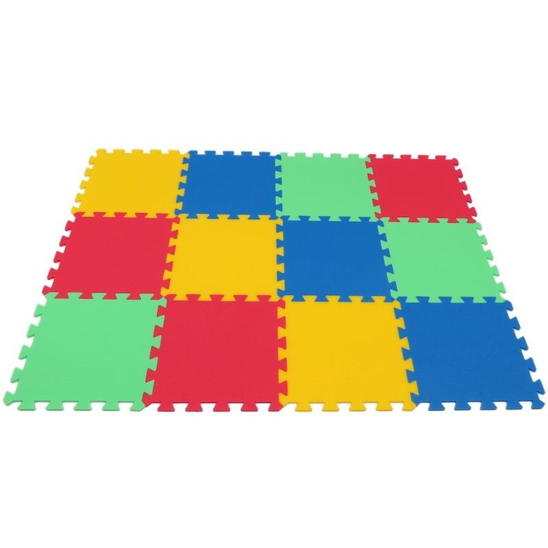 MALÝ GÉNIUS Pěnový koberec MAXI 12 - 4 barvy