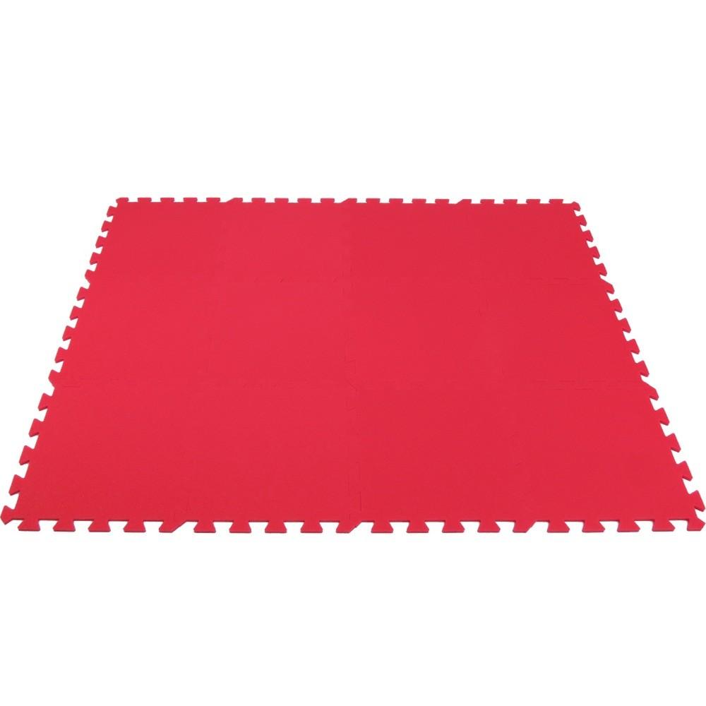 MALÝ GÉNIUS Pěnový koberec MAXI 12 - Červená