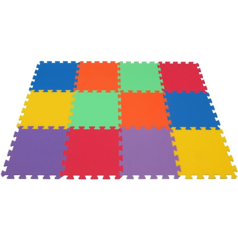 MALÝ GÉNIUS Pěnový koberec MAXI 12 - 6 barev