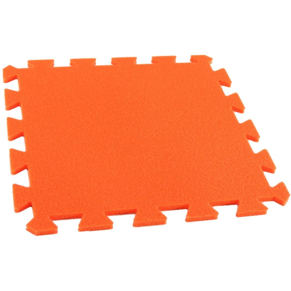 MALÝ GÉNIUS Pěnový koberec MAXI, jednotlivý díl - Oranžová