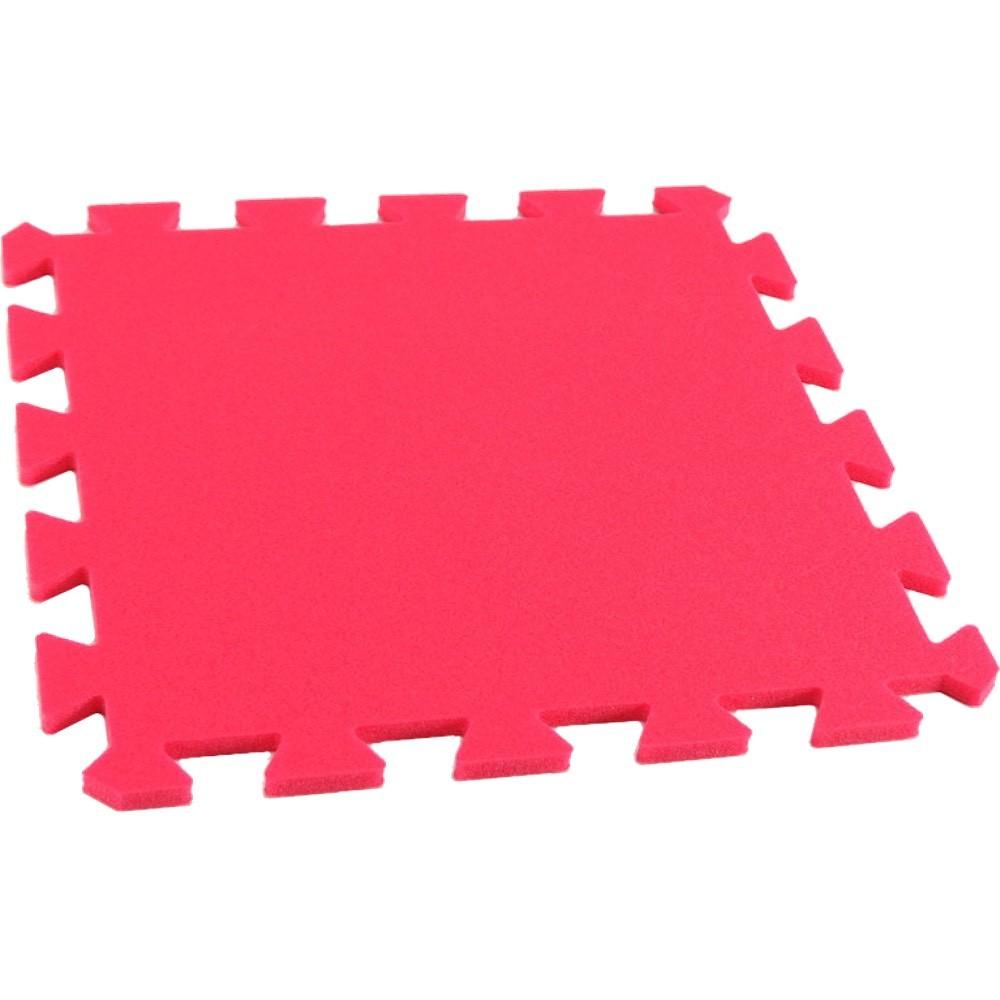 MALÝ GÉNIUS Pěnový koberec MAXI, jednotlivý díl - Červená