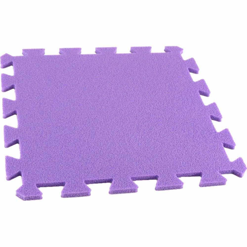 MALÝ GÉNIUS Pěnový koberec MAXI, jednotlivý díl - Fialová