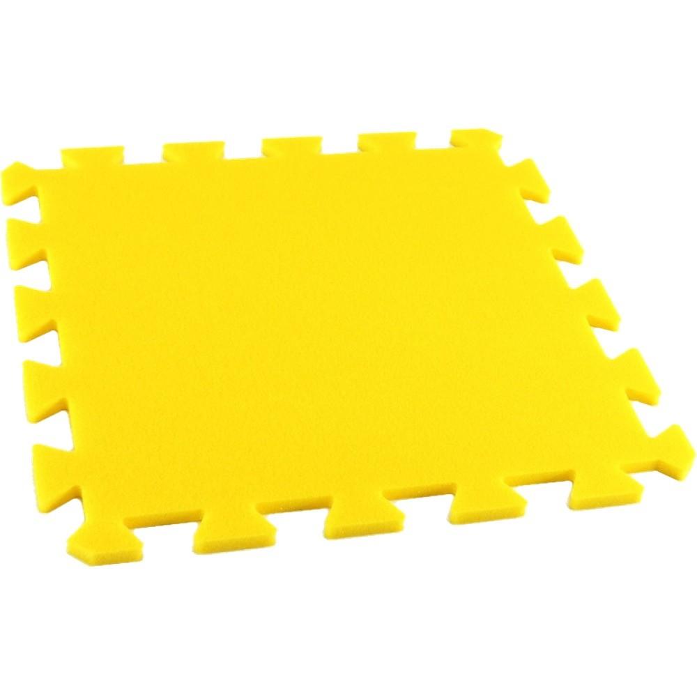 MALÝ GÉNIUS Pěnový koberec MAXI, jednotlivý díl - Žlutá