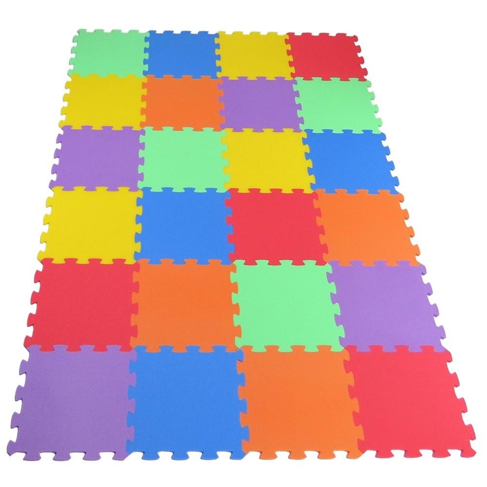 MALÝ GÉNIUS Pěnový koberec Uni-form 24 - Zelená