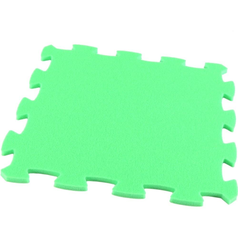 MALÝ GÉNIUS Pěnový koberec Uni-Form, jednotlivý díl - Zelená