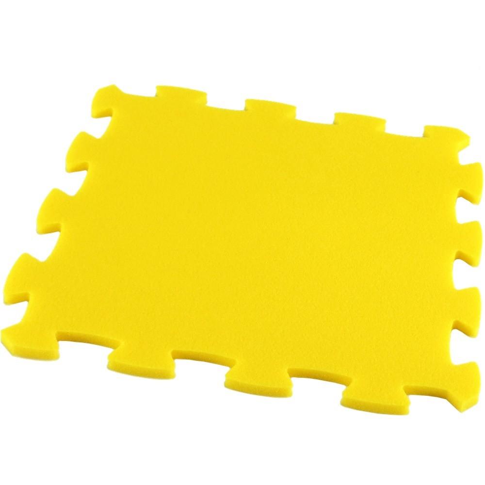 Pěnový koberec Uni-Form, jednotlivý díl - Žlutá
