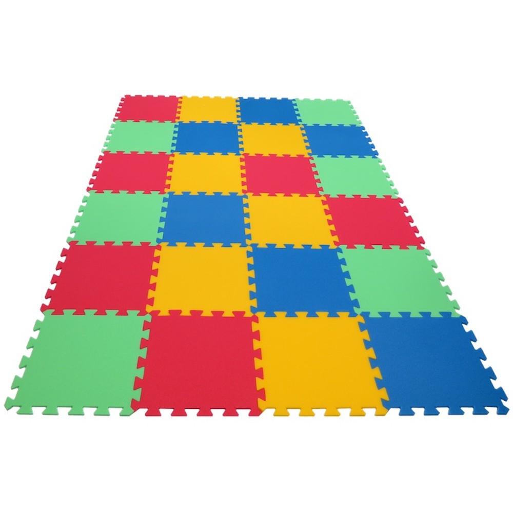MALÝ GÉNIUS Pěnový koberec MAXI 24 - silný 0+ - 4 barvy