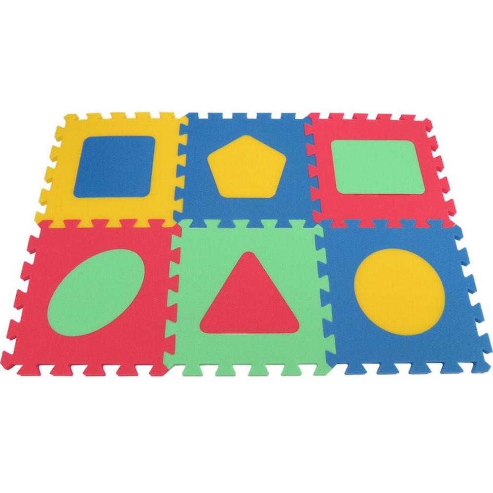 MALÝ GÉNIUS Pěnový koberec MAXI Geo silný - 4 barvy
