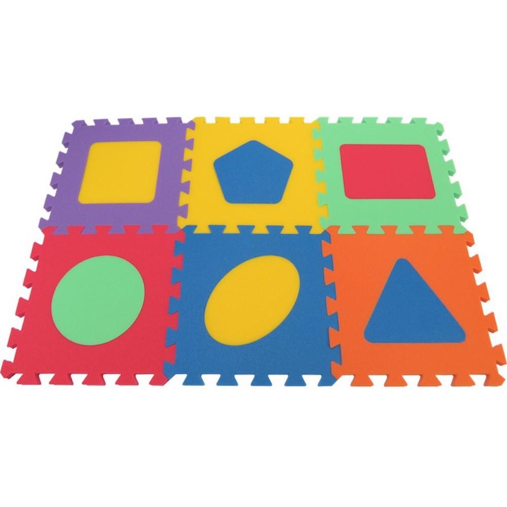 MALÝ GÉNIUS Pěnový koberec MAXI Geo silný - 6 barev