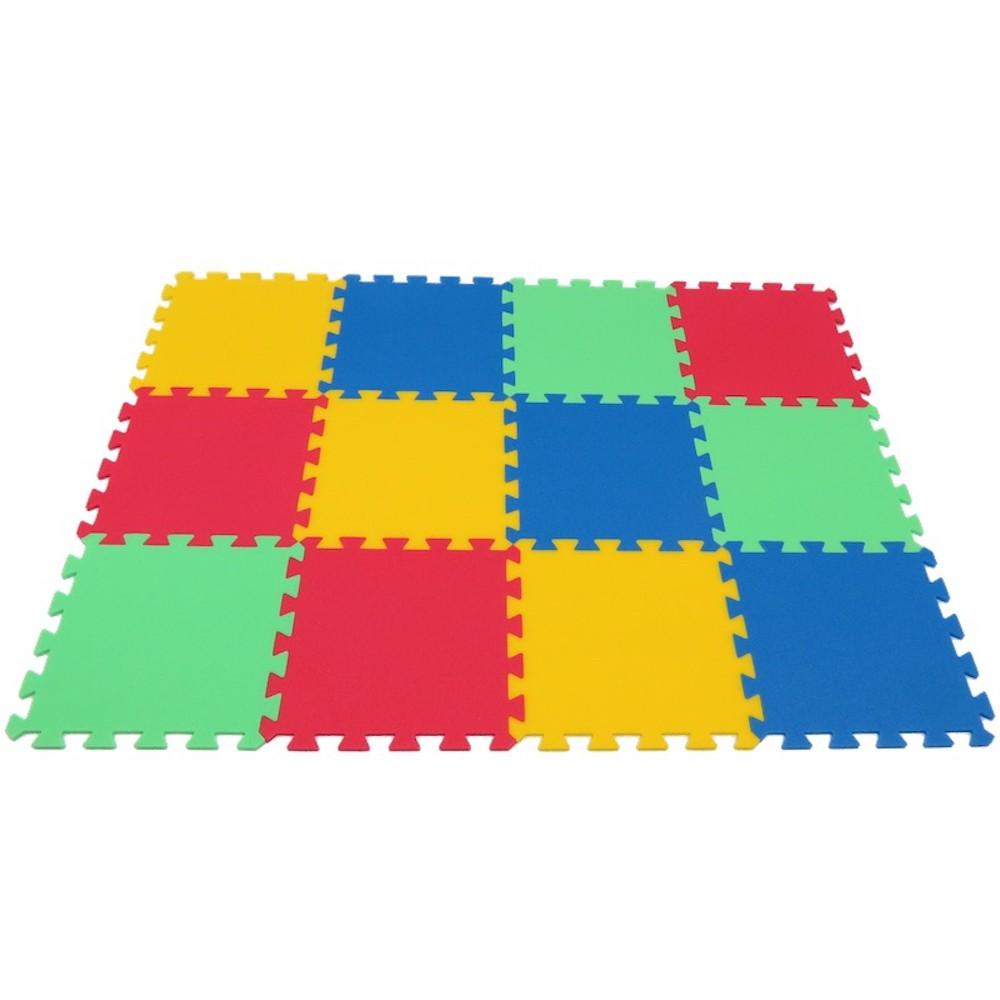 MALÝ GÉNIUS Pěnový koberec MAXI 12 - silny - 4 barvy