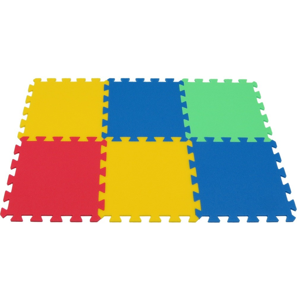 MALÝ GÉNIUS Pěnový koberec MAXI 6 - silný - 4 barvy