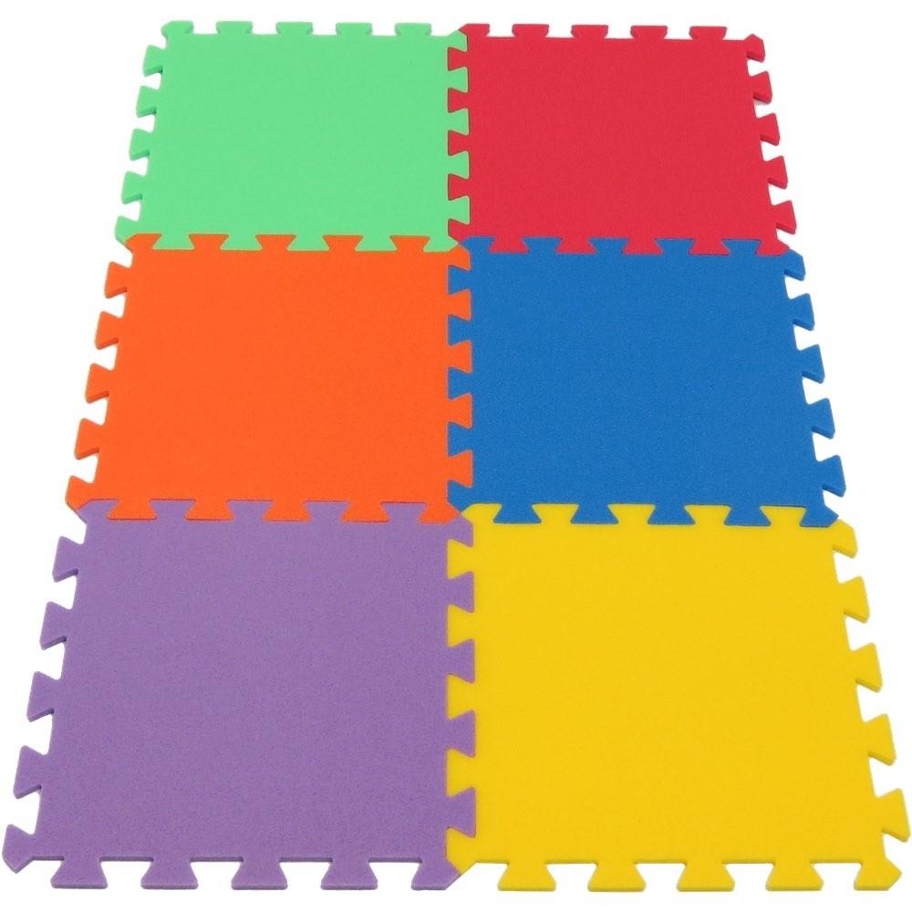 MALÝ GÉNIUS Pěnový koberec MAXI 6 - silný - 6 barev