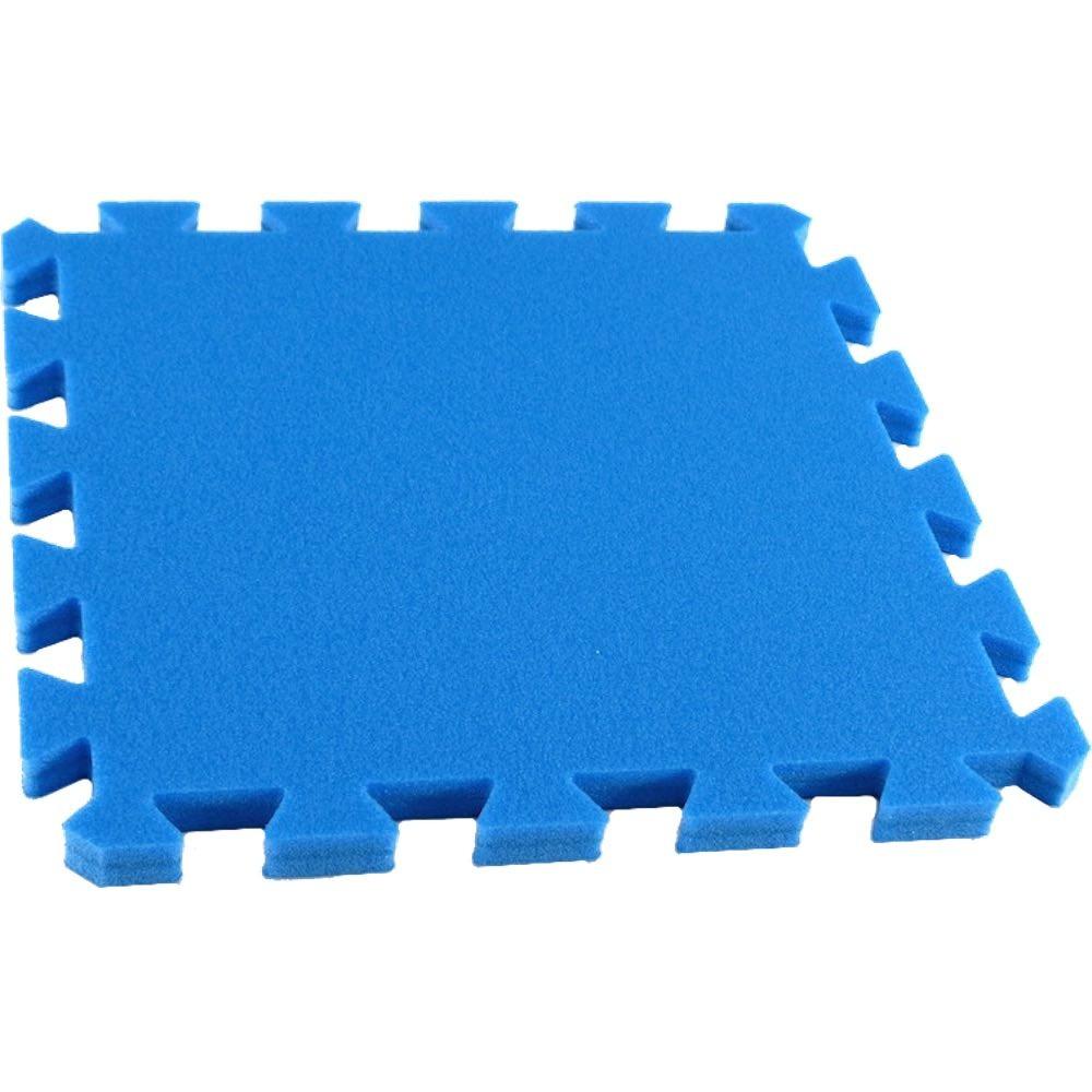 MALÝ GÉNIUS Pěnový koberec MAXI, jednotlivý díl siný - Modrá