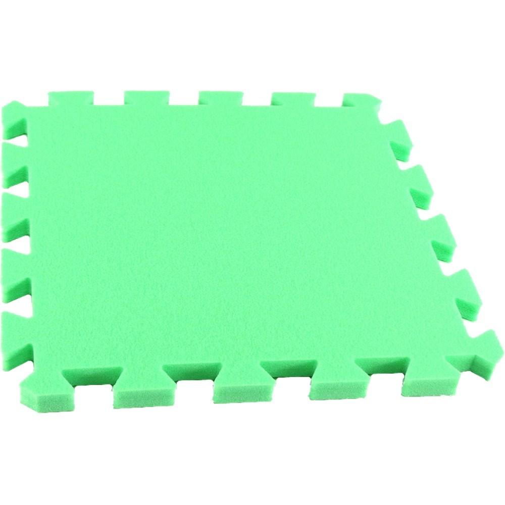 MALÝ GÉNIUS Pěnový koberec MAXI, jednotlivý díl siný - Zelená