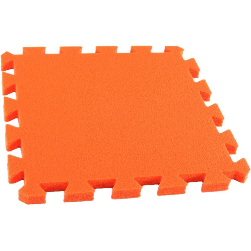 MALÝ GÉNIUS Pěnový koberec MAXI, jednotlivý díl siný - Oranžová