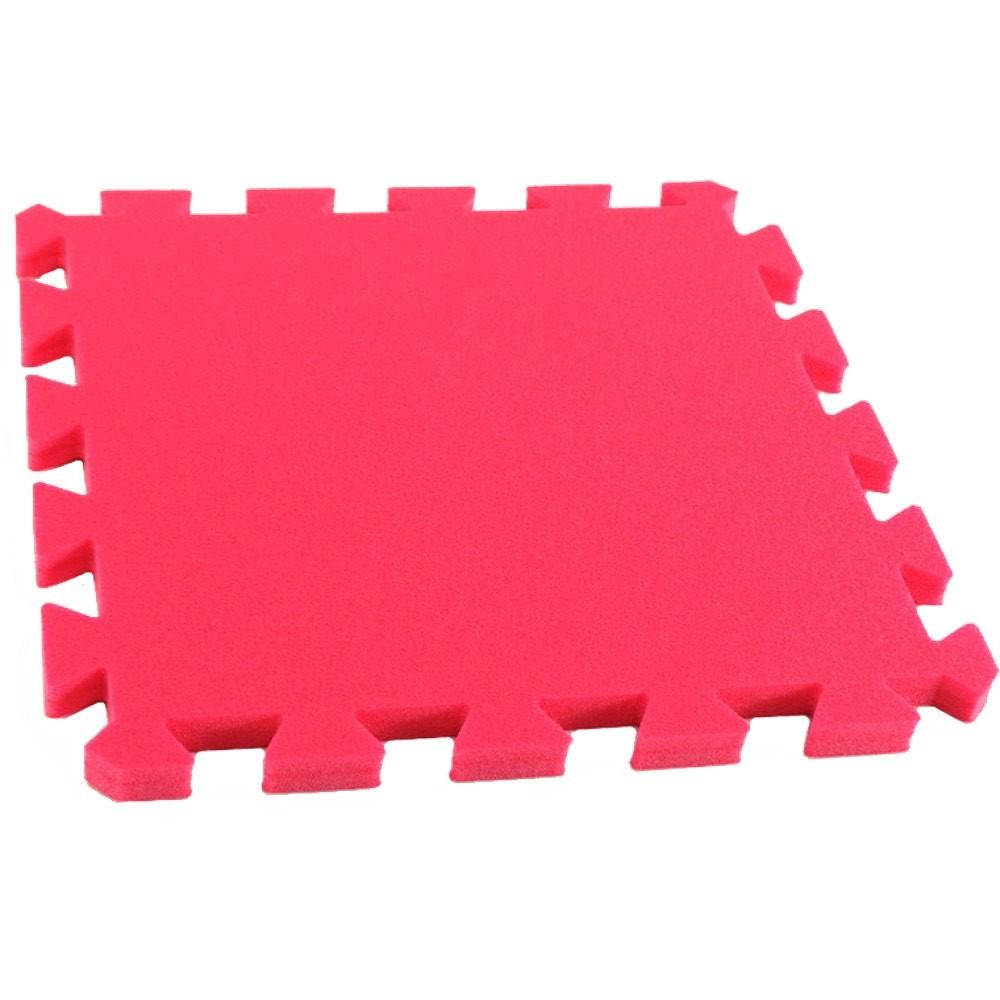 MALÝ GÉNIUS Pěnový koberec MAXI, jednotlivý díl siný - Červená