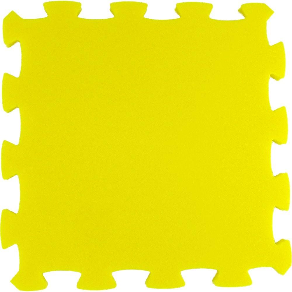 Pěnový koberec Uni-Form silný, jednotlivý díl - Žlutá