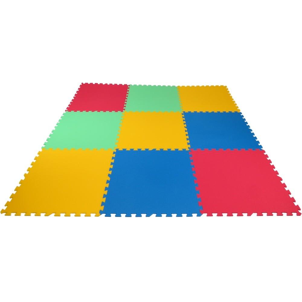 MALÝ GÉNIUS Pěnový koberec XL 9 silný - Zelená