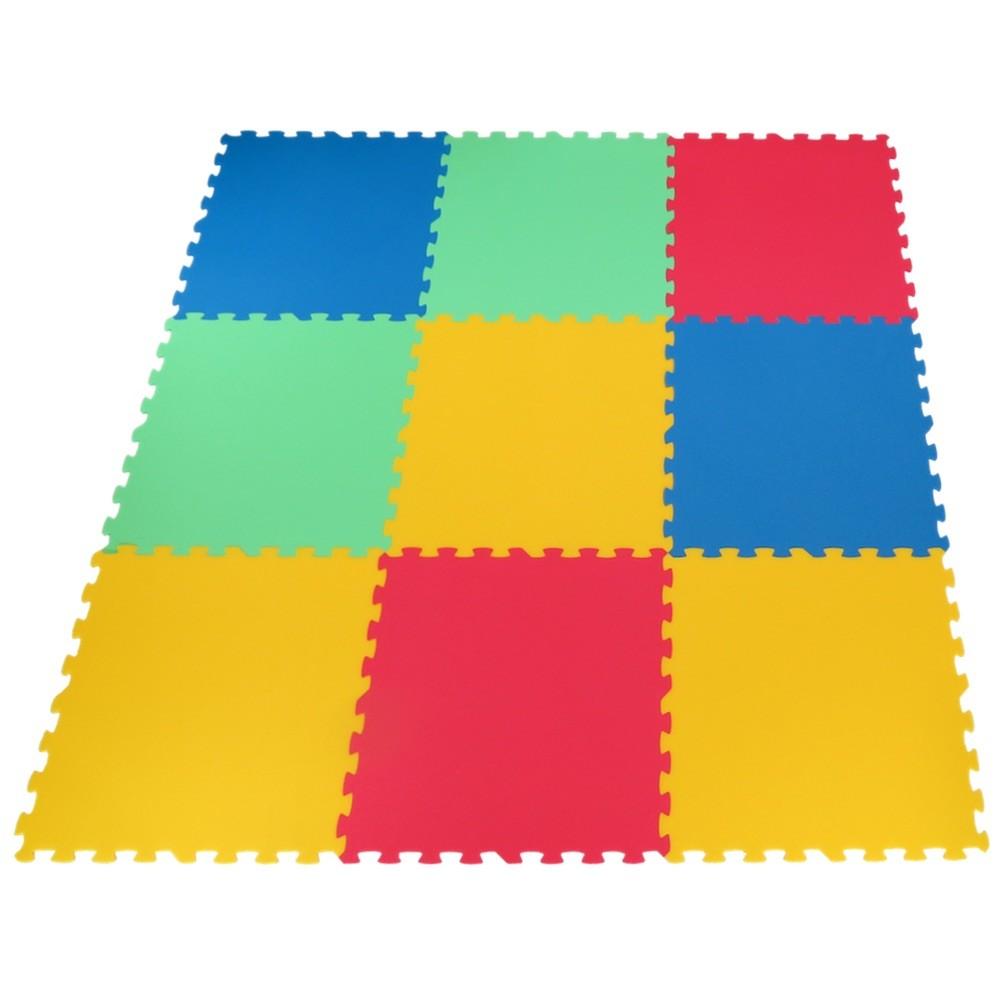 Pěnový koberec Mid-form 9 silný - Žlutá