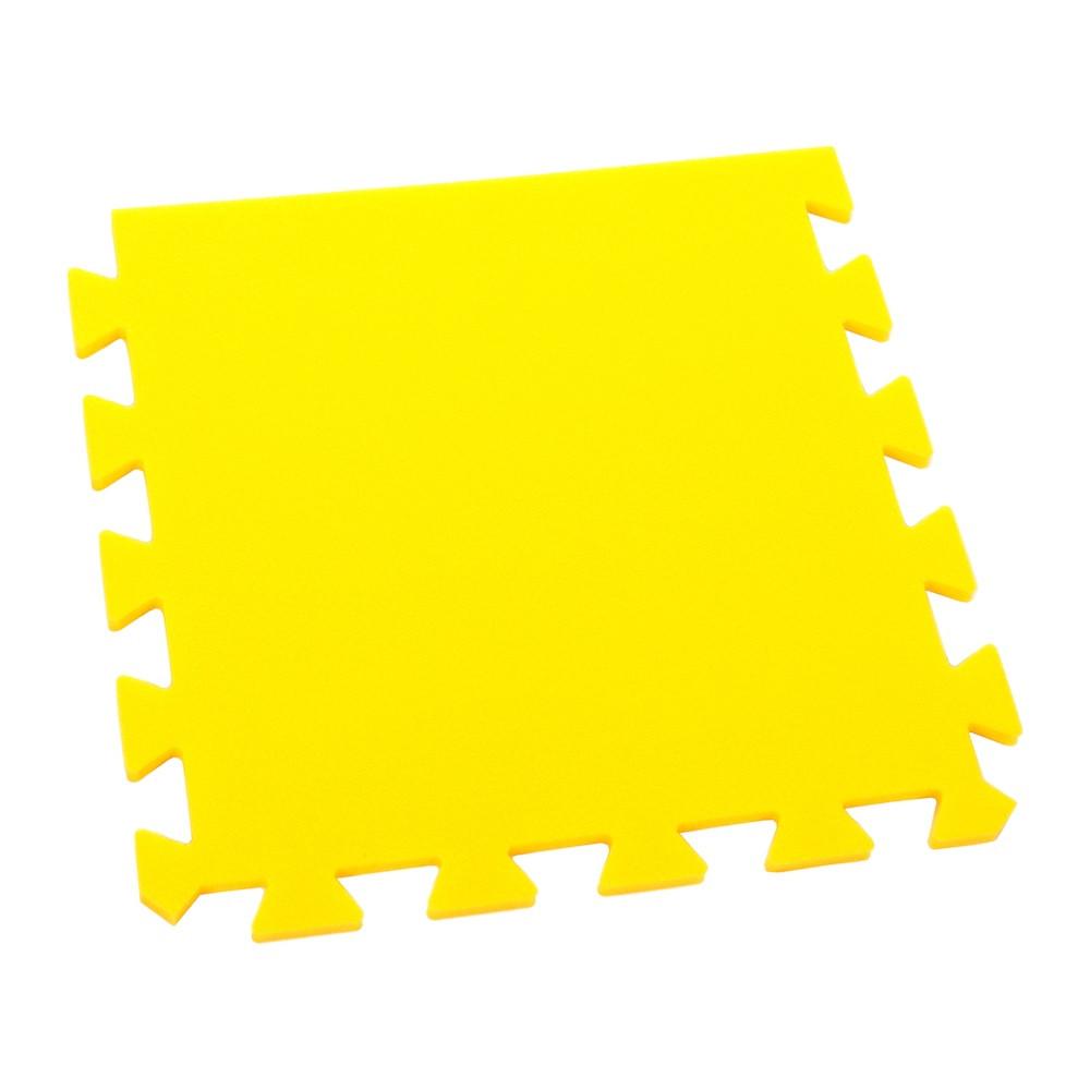 Pěnový koberec Optimal, jednotlivý díl silný - Žlutá