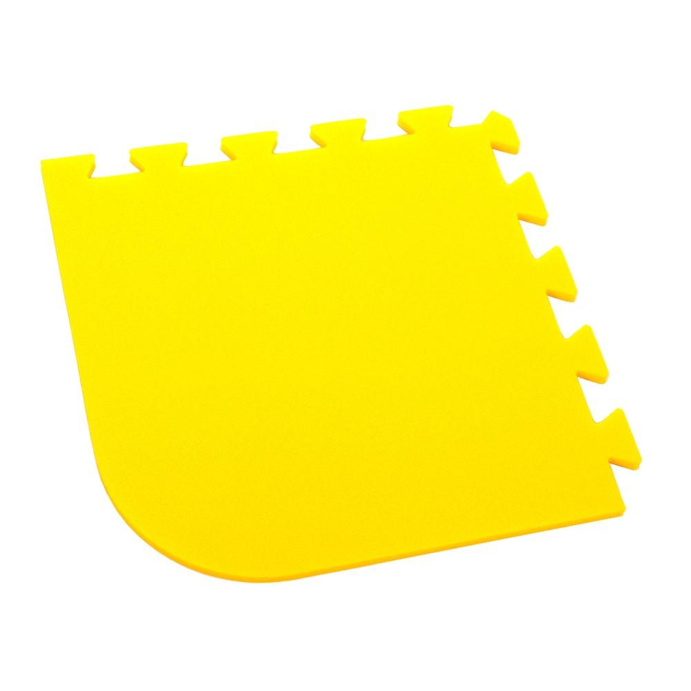 Pěnový koberec Optimal, rohový díl silny - Žlutá